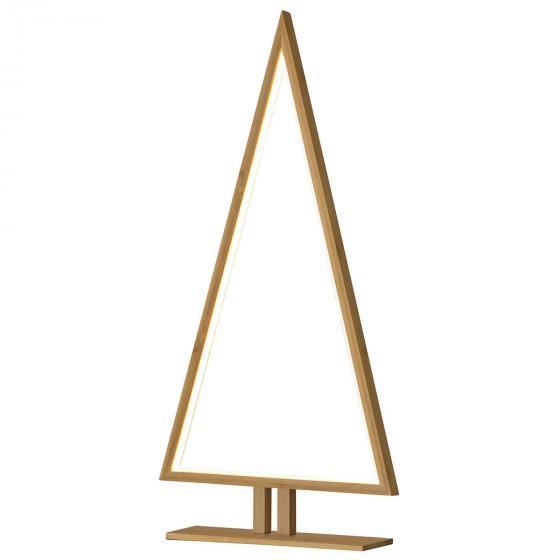 LED-Tischleuchte Pinewood, 65x32x6 cm, Holz, natur