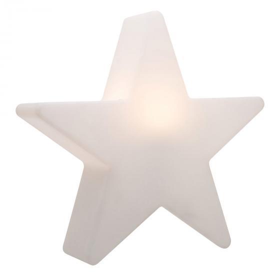 8 Season LED Shining Star, 90x95x18 cm, Polyethylen, weiß