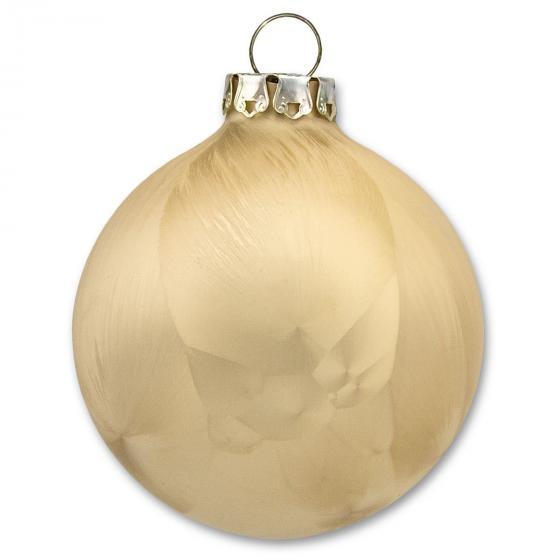 Christbaumkugeln Eislack, 3er-Set, 8 cm, Glas, gold