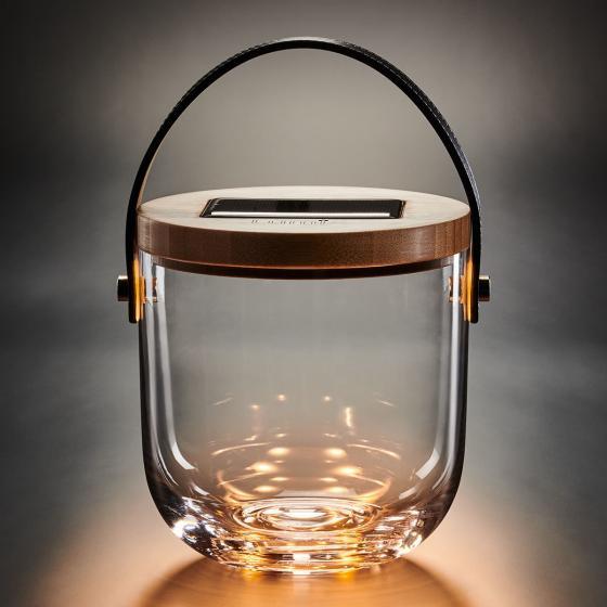 Deko Glas Basic, 15x14,5x14,5 cm, Glas, Bambus, klar