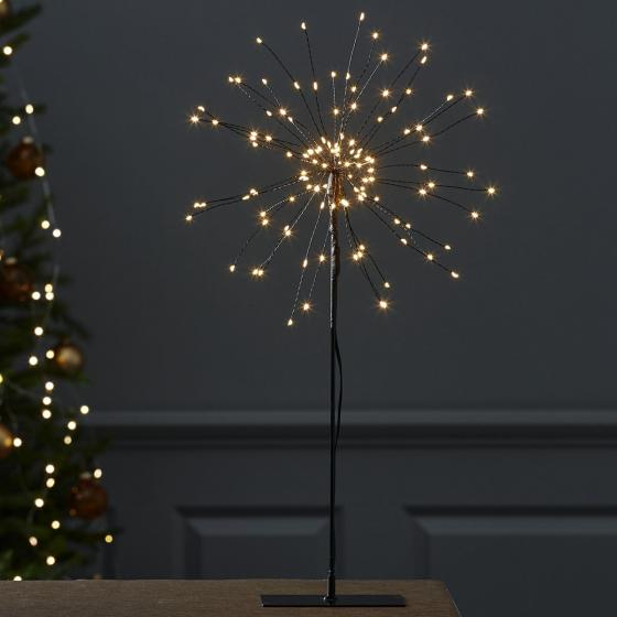 Star LED-Standleuchte Firework, 50x26x26 cm, Metall, schwarz