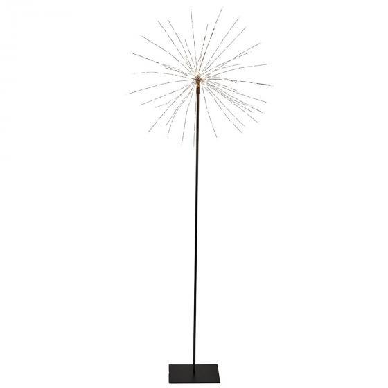 LED-Standleuchte Firework, 130x50x50 cm, Metall, schwarz