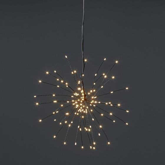 Star LED-Leuchtstern Firework, 26 cm, Metall, schwarz