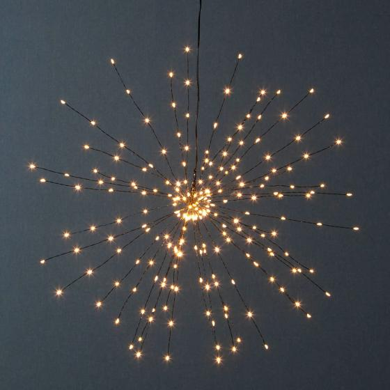Star LED-Leuchtstern Firework, 50 cm, Metall, schwarz