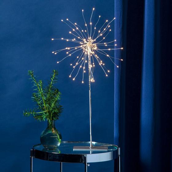 Star LED-Standleuchte Firework, 50x26x26 cm, Metall, silber