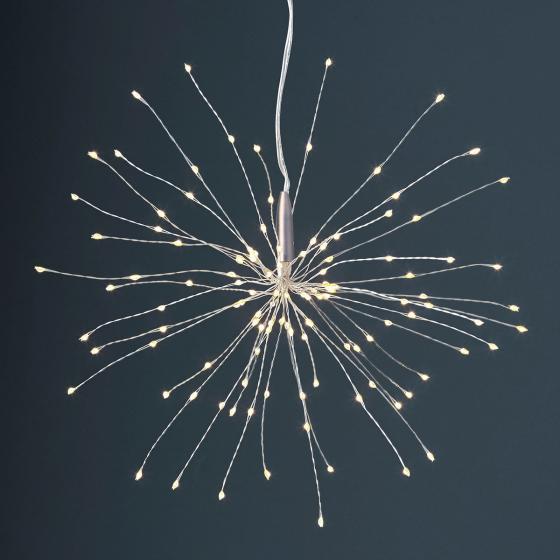 Star LED-Leuchtstern Firework, 26 cm, Metall, silber
