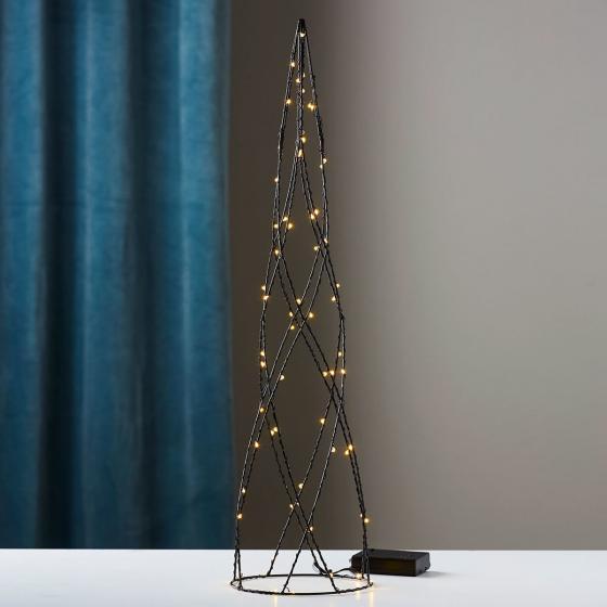 Star LED-Kegel Helix, 60x15x15 cm, Metall, schwarz
