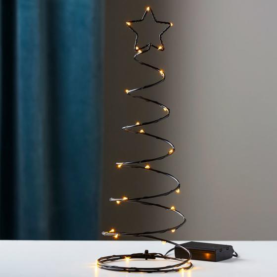 Star LED-Baum Dizzytree, 40x15x15 cm, Metall, schwarz