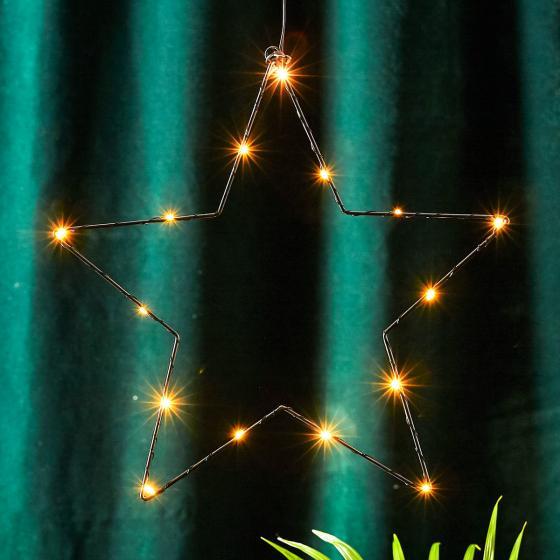 STAR LED-Leuchtstern Sparkling, 37cm, Metall, schwarz