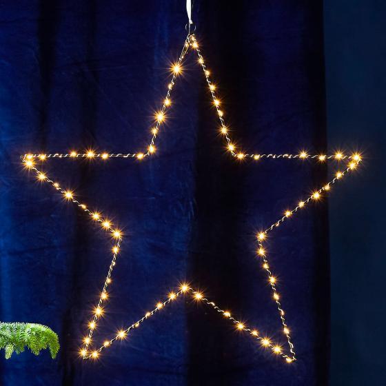 LED-Leuchtstern Mira, 70 cm, Metall, schwarz