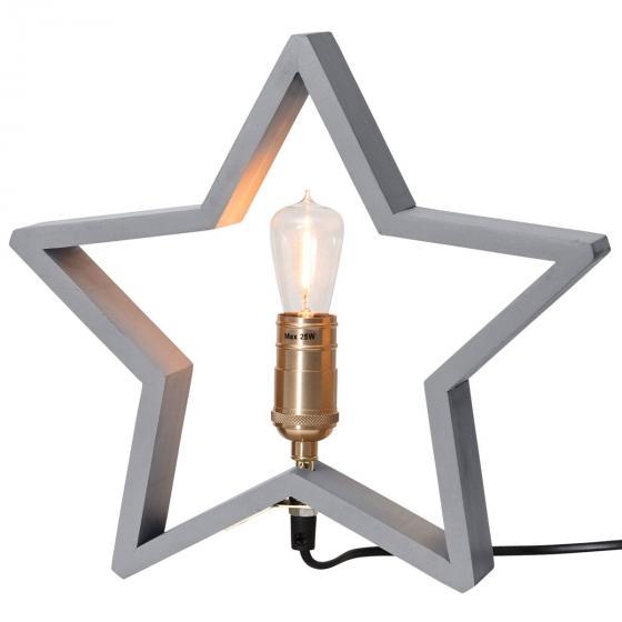 Star Holzstern Lysekil, 30x28x5 cm, Holz, grau