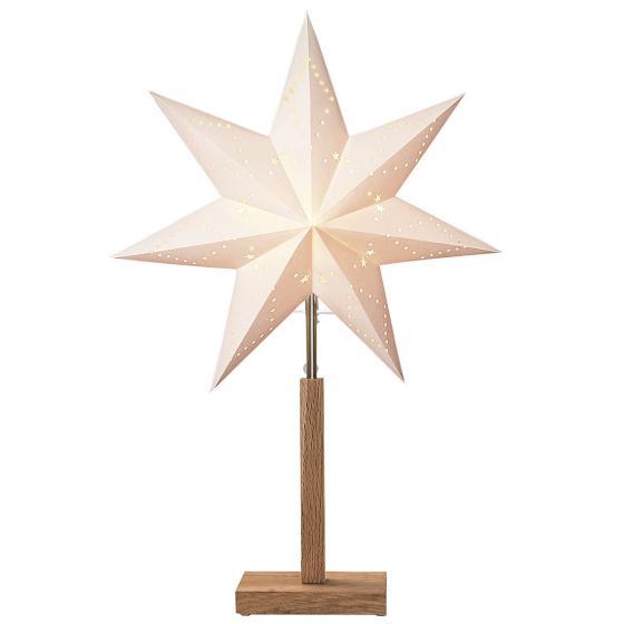 Standleuchte Winter Starlight, 55x34x34 cm, Holz und Papier, beige