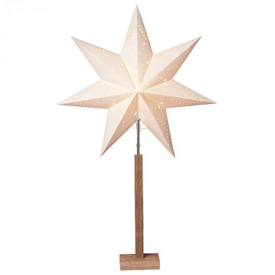 Star Standleuchte Winter Starlight, 100x60x20 cm, Holz und Papier, beige