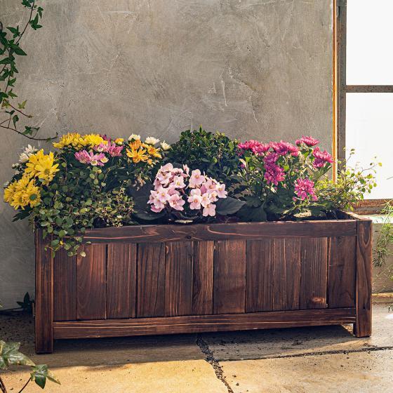 Pflanzbeet/Kasten, 70x30x25 cm, Holz, braun