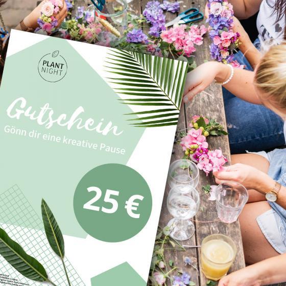 PlantNight Online-Geschenkgutschein 25€