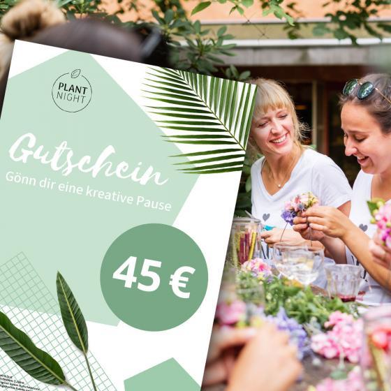 PlantNight Online-Geschenkgutschein 45€