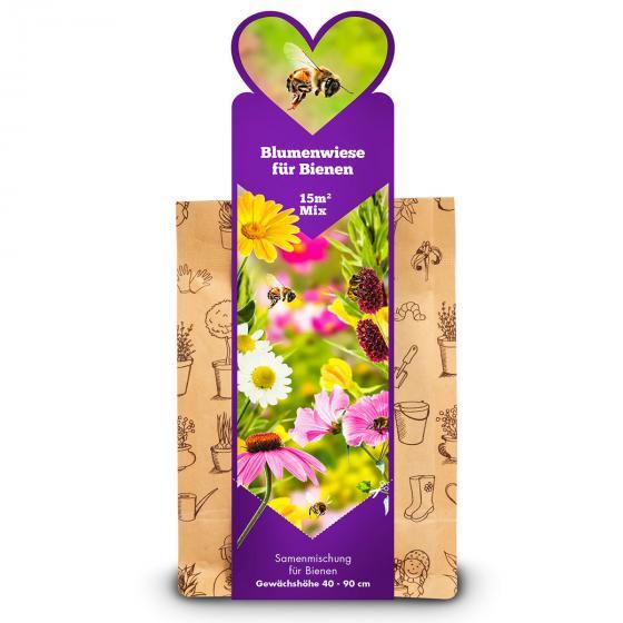 Blumenwiese für Bienen, 15 m²