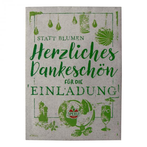Dankeskarte Saatguttüte zum Verschenken - Grillkräutermix