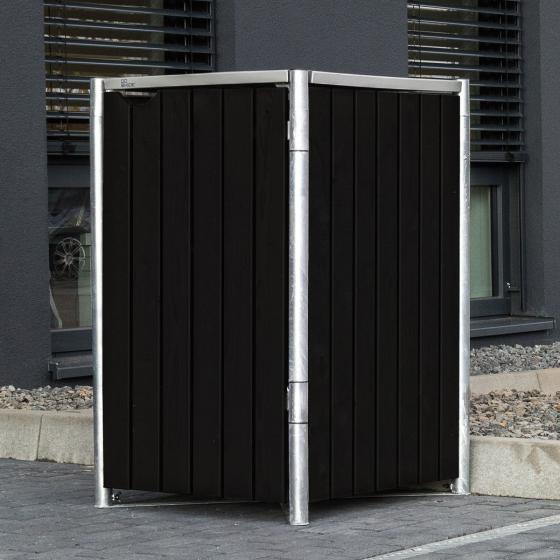 Mülltonnenbox 240l Kunststoff, 1er Box, schwarz
