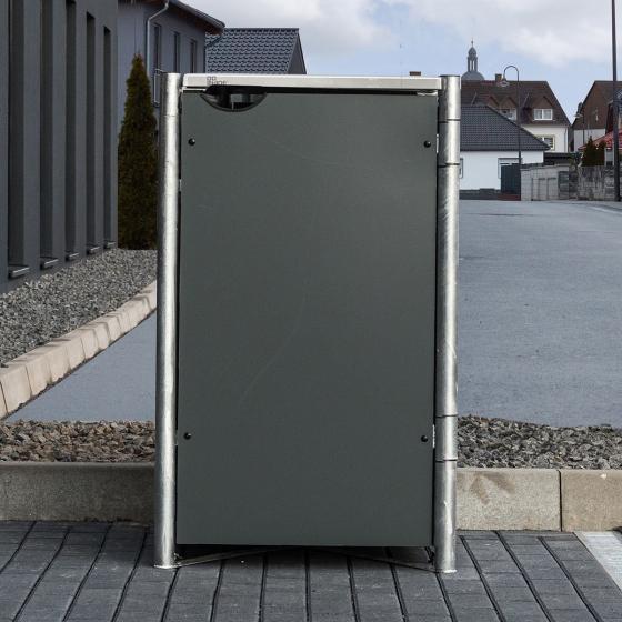 Mülltonnenbox 240l Kunststoff, 1er Box, grau