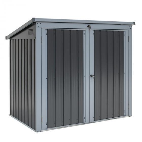 Mülltonnenbox 240l Stahlblech, 2er Box