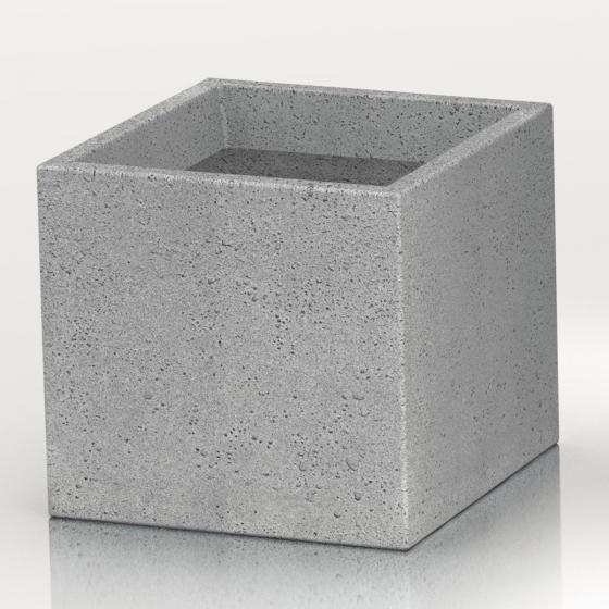 Pflanzkübel Cube, 30x30x28 cm, Stony Grey