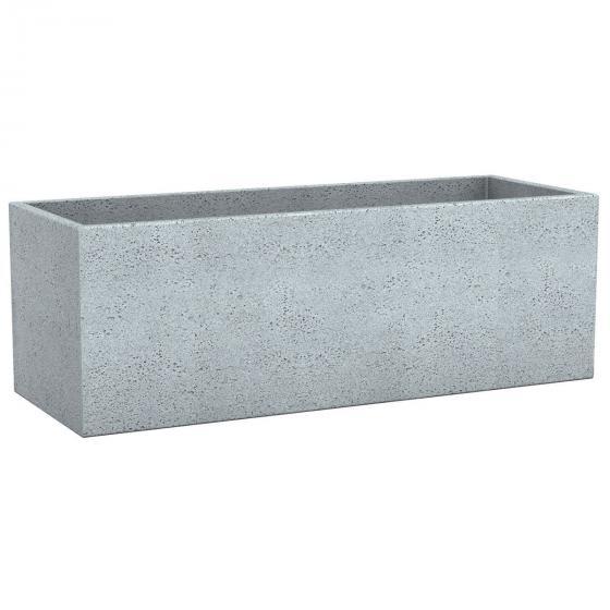 Pflanzkübel Long Cube, 80x29x27 cm, Stony Grey