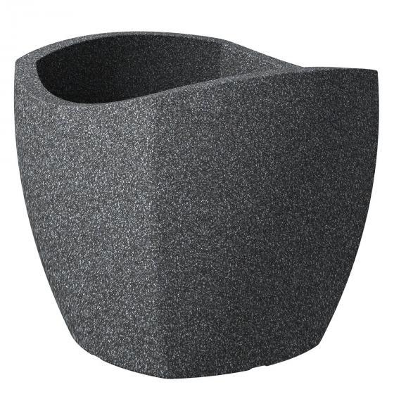 Pflanzkübel Wave Cubo, 50 cm, Granitschwarz