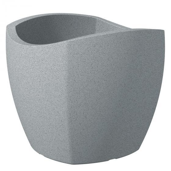 Pflanzkübel Wave Cubo, 40 cm, Stony Grey