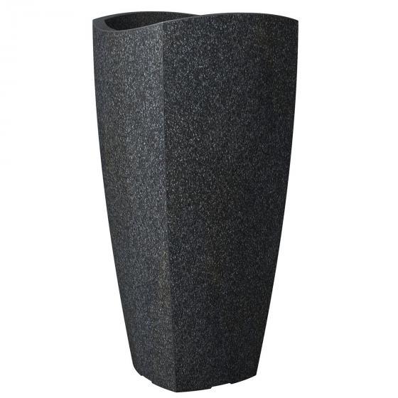 Pflanzkübel Wave High Cubo, 30x60 cm, Granitschwarz