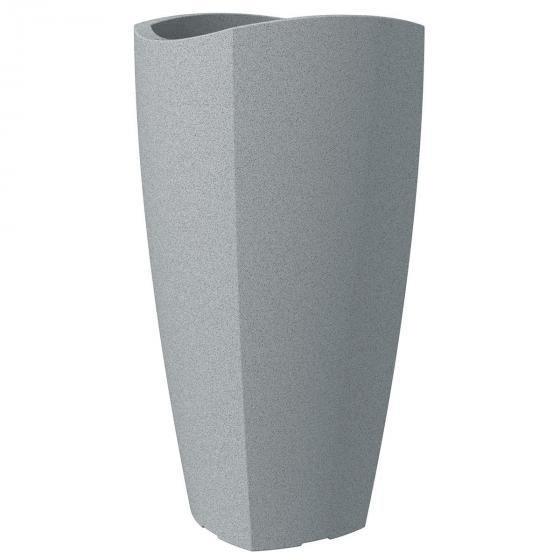 Pflanzkübel Wave High Cubo, 40x80 cm, Stony Grey