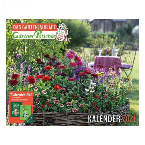 Gartenkalender mit 2 Blechschildern