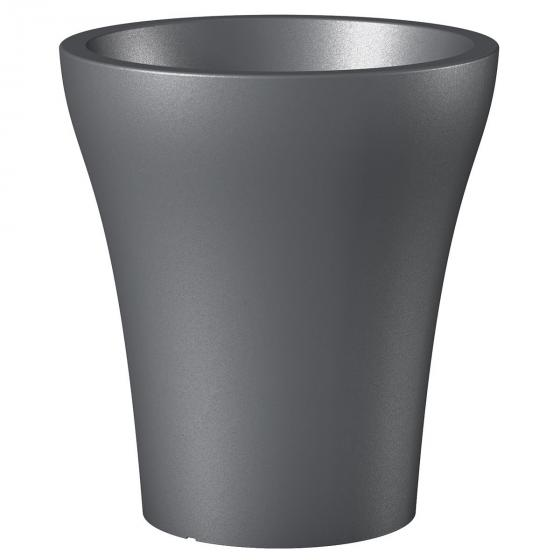 Pflanzkübel No.1 HighStyle, 43 cm, Metallic Grey