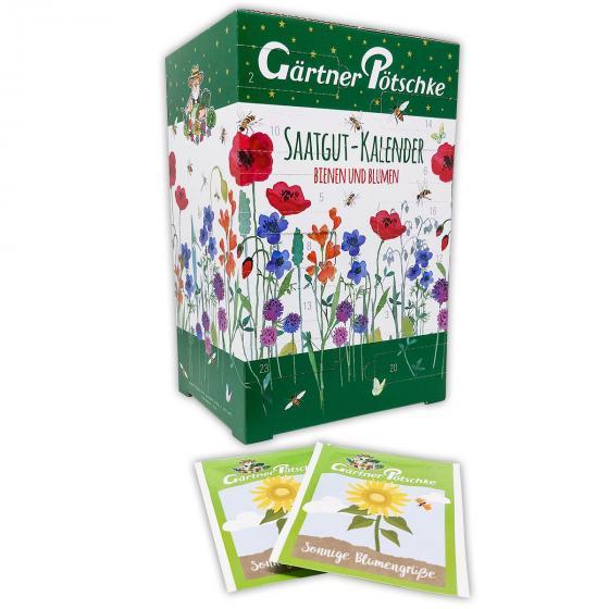 Saatgut-Adventskalender Bienen & Blumen