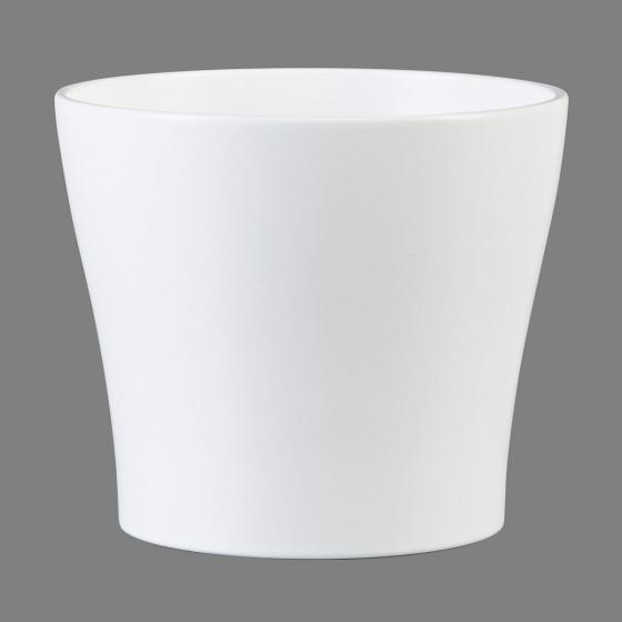 Übertopf Panna, 13cm, Weiß