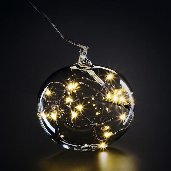 """LED Glaskugel """"Light Ball M"""", Glas, klar"""