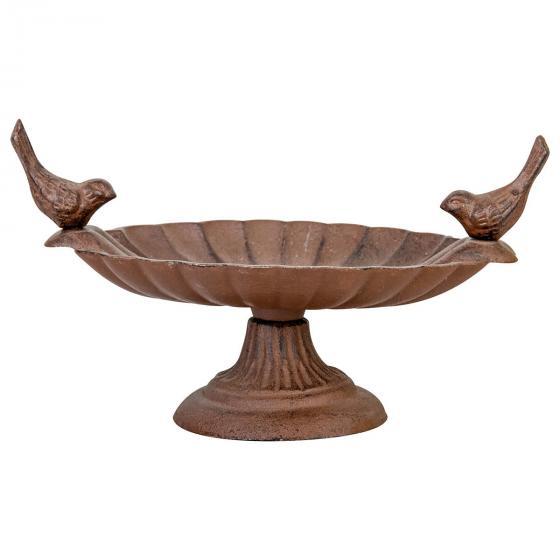 Dekorative Vogeltränke Piepmatz, Gusseisen, ca. 23 cm