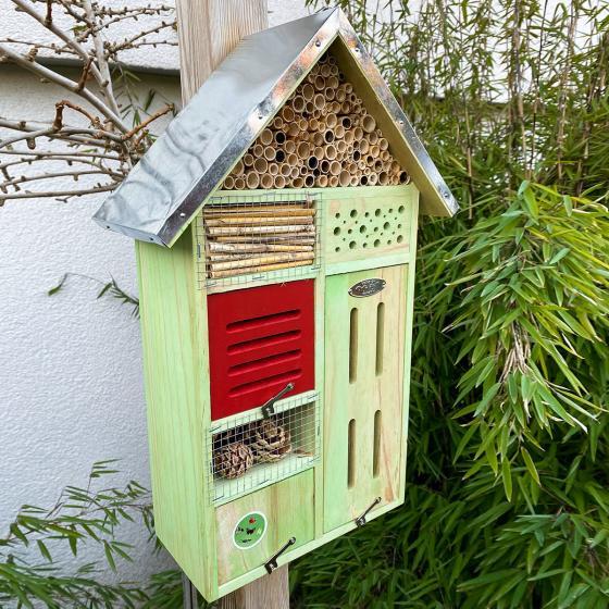 Insektenhotel Nature mit Zinkdach, ca. 48x 31 cm