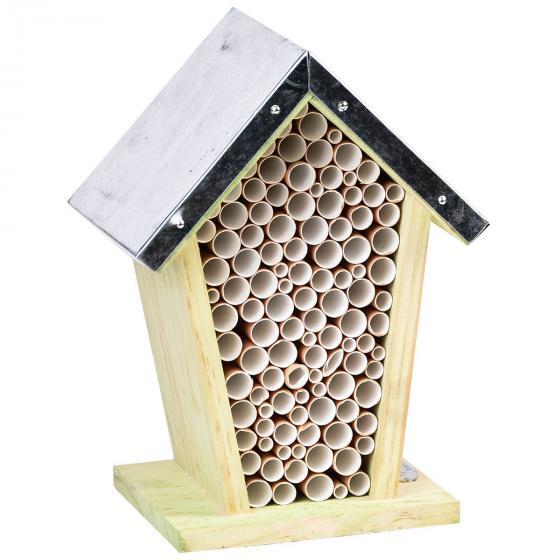 Bienenhaus mit Zinkdach, Kiefernholz, ca. 12 x 15 x 21 cm