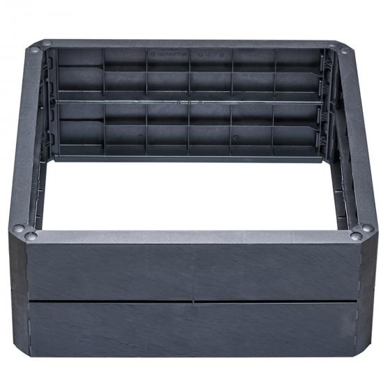 ERGO QUADRO STONE S Hochbeet-System, 60x60x25 cm