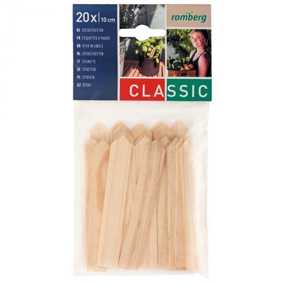 Holzstecketiketten 20 Stück à 10 cm