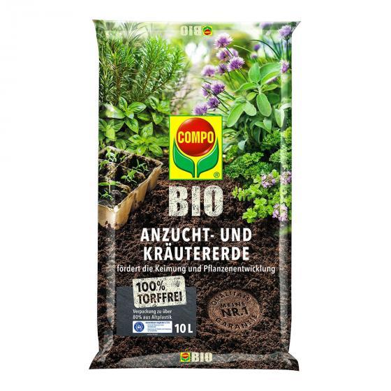 BIO Anzucht- und Kräutererde torffrei, 10 Liter