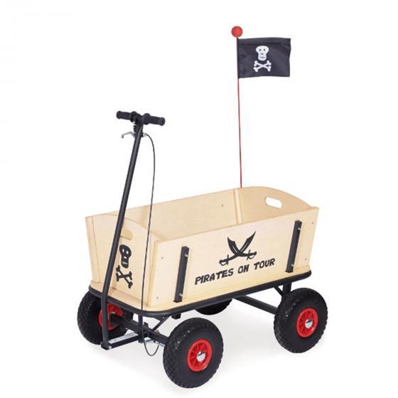 Bollerwagen Pirat, mit Bremse