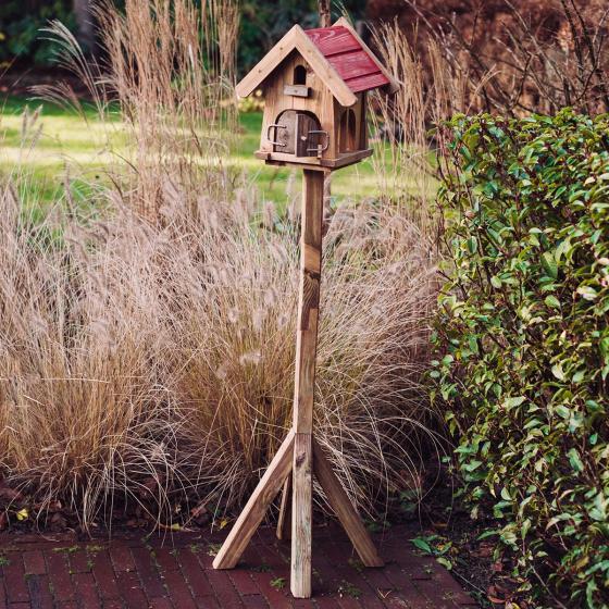 Vogelfutterhaus Max, mit Ständer, Holz