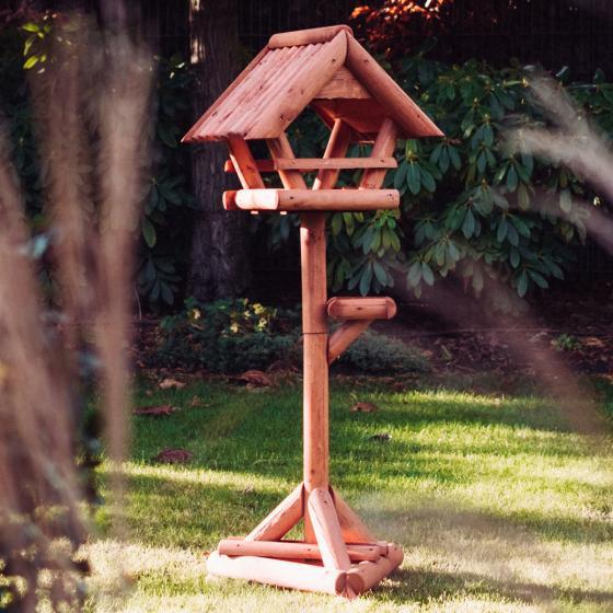 Vogelfutterhaus Paul, mit Ständer, Holz