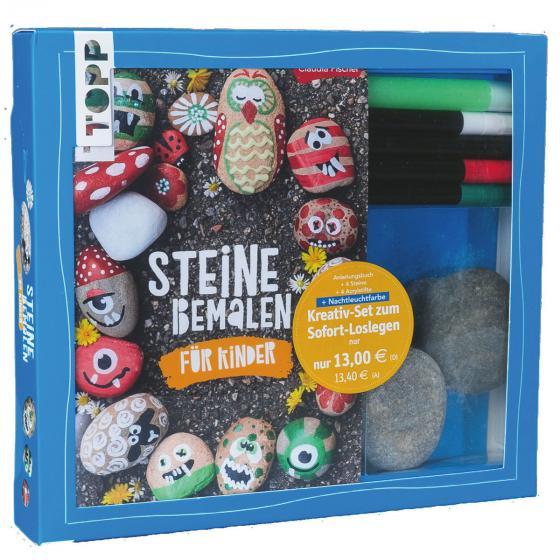 Kreativset für Kinder mit Acrylstiften und Steinen