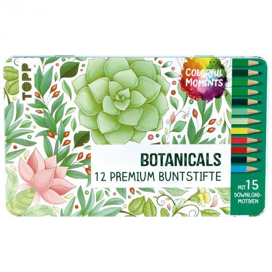 Colorful Moments Designdose mit Buntstiften - Botanicals