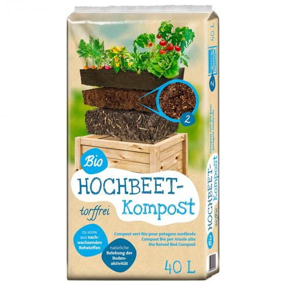 Bio Hochbeet Kompost, 40 Liter