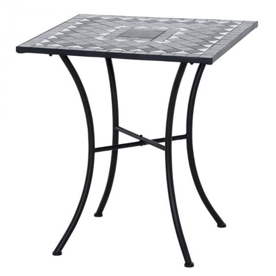 Tisch Mosaik, Stahlgestell mit Keramikfläche, ca. 60 x 60 x 69,5 cm