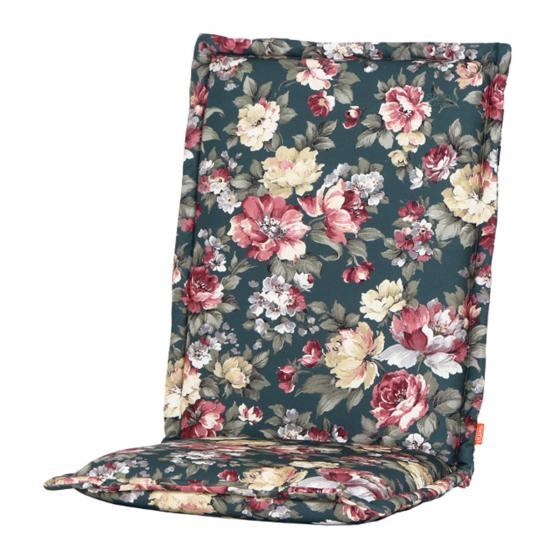 Gartenstuhl-Auflage Lissa, Blume-petrol